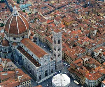 Flying above Firenze