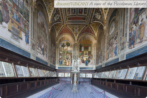 A view of the Piccolomini Library inside Siena's Duomo