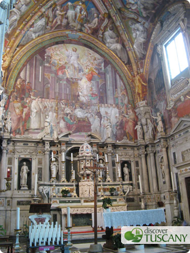 Church in the Certosa Carthusian monastery in Galluzzo