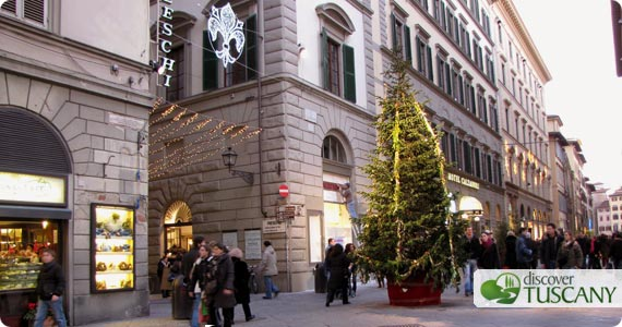 Christmas in downtown Florence, Italy