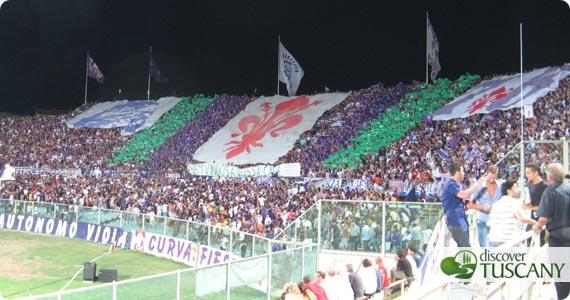 La Curva Fiesole allinizio di Fiorentina-Sporting Lisboa