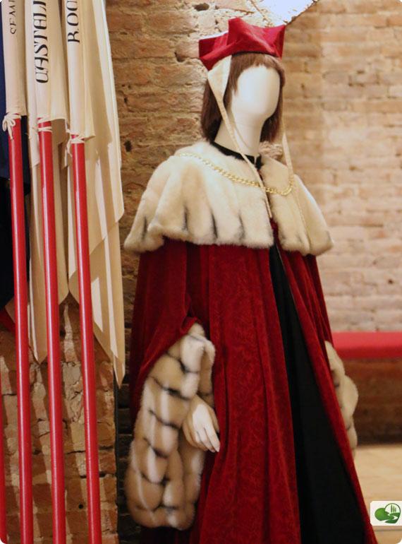Sala dei Costumi in the lower levels of Palazzo Pubblico