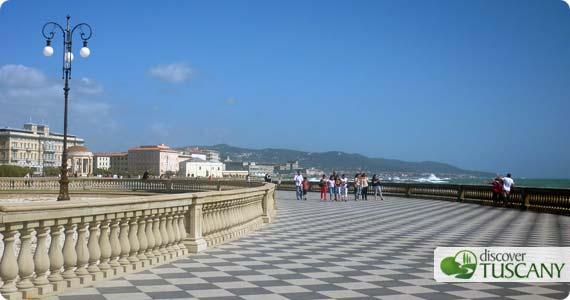 La terrazza Mascagni a Livorno
