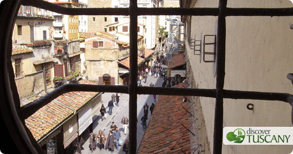 A view from the Vasari Corridor