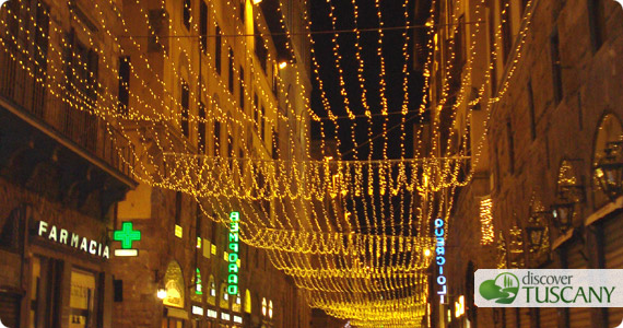 christmas decorations in Florence