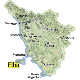 Map Of Italy And Islands.Visit Elba Tuscany Information On The Island Of Elba Tuscany