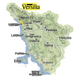 versilia map
