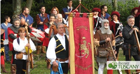 Crossbowmen in Volterra Medieval Festival