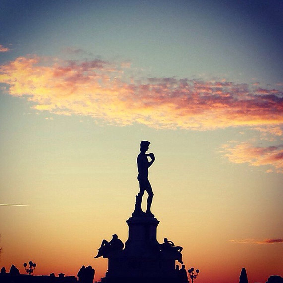Piazzale Michelangelo at sunset - photo credit @ingrid__83