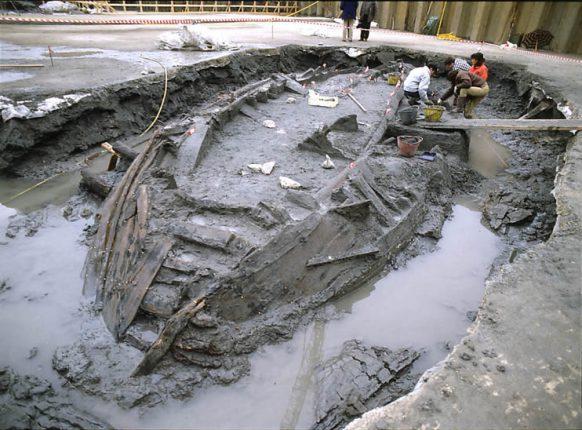 L'area degli scavi di San Rossore nel 1998