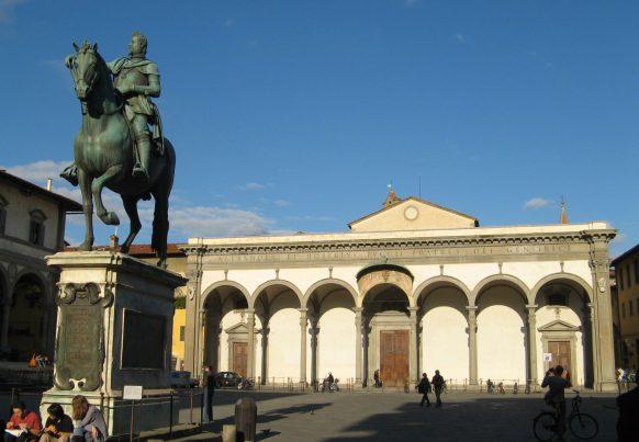 Piazza Santissima Annunziata, Florence, Tuscany