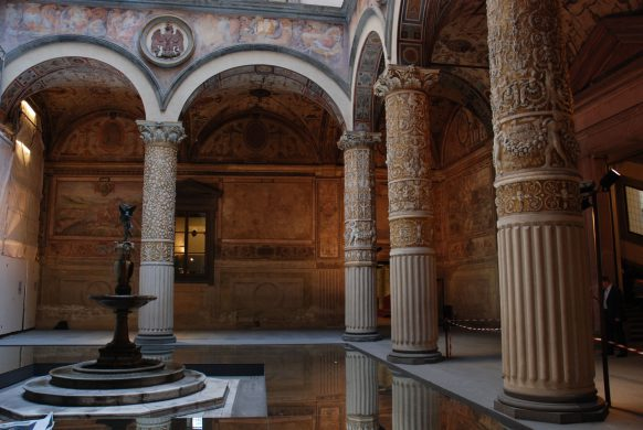 Courtyard in Palazzo Vecchio., Florence, Tuscany