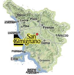 San Gimignano Map San Gimignano Tuscany,San Gimignano near Siena & Florence San Gimignano Map